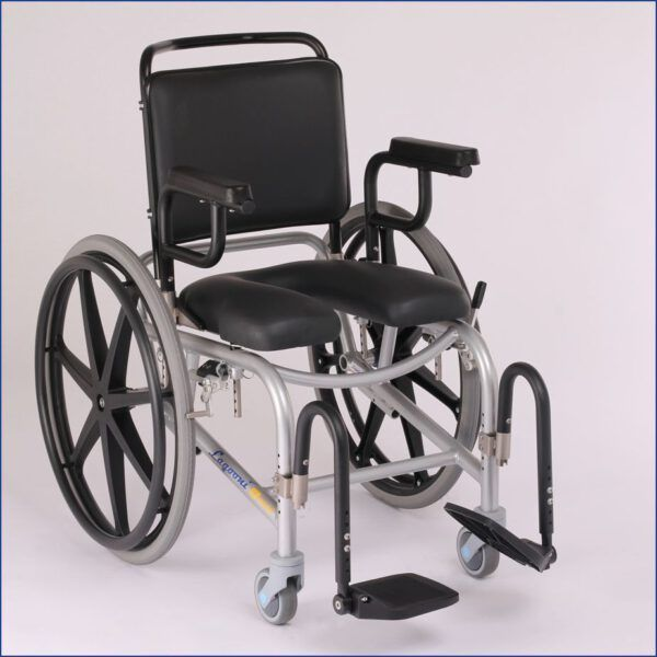 Shower Commode Wheelchair with Swivel Legrests - Lagooni Life Special