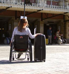 Shower commode wheelchairs for travelling